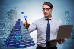 The businessman in ponzi scheme concept Stock Photography