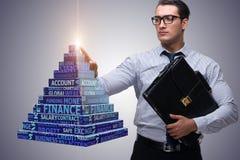 The businessman in ponzi scheme concept Stock Photos