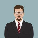 Businessman Portrait Flat Design Royalty Free Stock Images