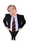 Businessman portrait - High angle Royalty Free Stock Image