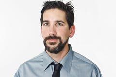 Businessman Portrait. Portrait of a man has a grin stock images