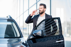 Businessman portrait near the car Royalty Free Stock Photos