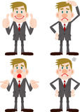 Businessman Pose Collection Stock Photography