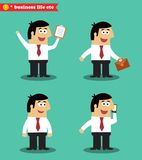 Businessman in poses standing set Stock Image