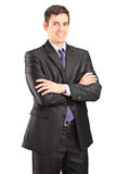 Businessman posing with arms crossed Royalty Free Stock Images