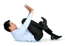Businessman posing for conceptual photo Royalty Free Stock Photo