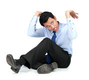 Businessman posing for conceptual photo Stock Photography