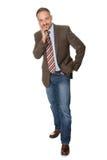 Businessman posing isolated on white background Royalty Free Stock Images