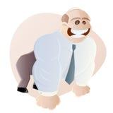 Businessman posing like a gorilla Stock Images