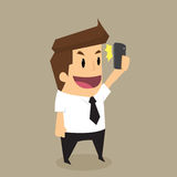 Businessman posing and making selfie shot Royalty Free Stock Photography