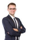 Businessman posing, smile, hands crossed Stock Photo