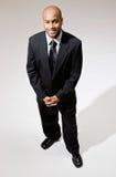 Businessman posing in suit stock image
