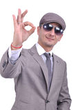 Businessman positive attitude Royalty Free Stock Image