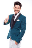 Businessman with positive attitude Royalty Free Stock Image