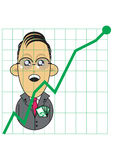 Businessman with positive growth chart Royalty Free Stock Photo