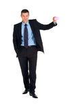 Businessman with post-it Royalty Free Stock Photos
