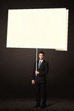Businessman with post-it paper Stock Photos