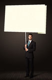 Businessman with post-it paper Royalty Free Stock Image