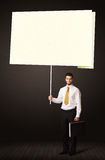 Businessman with post-it paper Royalty Free Stock Images