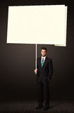 Businessman with post-it paper Stock Image