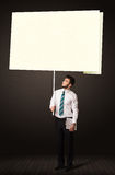 Businessman with post-it paper Stock Photography