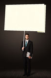 Businessman with post-it paper Royalty Free Stock Photo