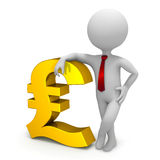 Businessman and pound currency symbol Royalty Free Stock Photos