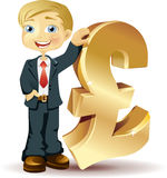 Businessman with a pound symbol Stock Photography