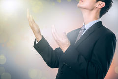 Businessman pray for help Stock Photography