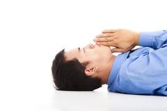 Businessman with praying Royalty Free Stock Photo