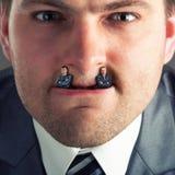 Businessman predator. Businessmen instead of fangs Stock Image
