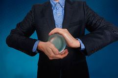 Businessman predict the future. business fortune telling. Royalty Free Stock Photo