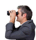 Businessman predicting future success Royalty Free Stock Photos