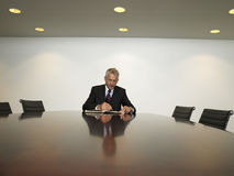 Businessman Preparing Notes In Conference Room Royalty Free Stock Images
