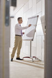 Businessman preparing for presentation on flipchart in office Royalty Free Stock Image