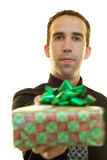 Businessman With Present Stock Image