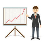 Businessman present growing business vector illustration Stock Images