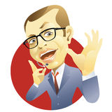 Businessman presentation Stock Photography