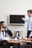 Businessman Presentation stock image
