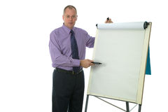 Businessman presentation Stock Photography