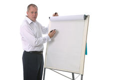 Businessman presentation Stock Photos