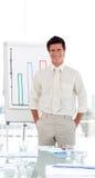 Businessman in a presentation Royalty Free Stock Photos