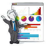 Businessman and presentation Royalty Free Stock Images