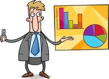 Businessman presentation cartoon illustration Royalty Free Stock Image