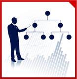 Businessman presentation with diagram Stock Photos
