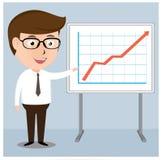 Businessman presentation Growth Chart board Royalty Free Stock Photo