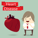 Businessman presentation health with heart disease Royalty Free Stock Images