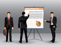 Businessman presentation illustration Stock Images