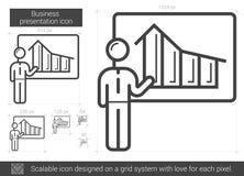 Businessman presentation line icon. Stock Photos