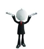 Businessman with presentation pose. 3d illustration of white businessman with presentation pose Royalty Free Stock Photos